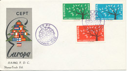 Turkey FDC 17-9-1962 EUROPA CEPT Complete Set Of 3 With Cachet - Europa-CEPT