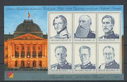 België Blok Nr. 80 Xx - De 6 Belgische Koningen - Postfris - Blocks & Kleinbögen 1962-....