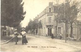 294- GUERET -route De Limoges -ed. Aux Armes D'Aubusson - Guéret