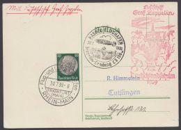 """Zeppelin, Mi-Nr. 525, """"Deutschlandfahrt 1939, Kassel"""" Mit Pass Sst """"Zeppelinlandung Kassel"""", 30.7.39 - Briefe U. Dokumente"""