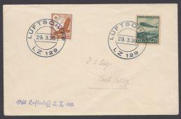 """Zeppelin, Mi-Nr. 533, 607, MiF Auf Brief, Stempel """"Luftschiff LZ129"""", 29.3.36 - Briefe U. Dokumente"""