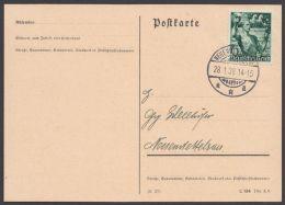 """FDC, Mi-Nr. 660, Karte Mit Ersttag """"Neuendettelsau"""", 28.1.38 - Deutschland"""