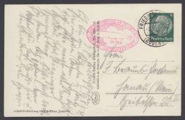 """Zeppelin, Bedarfs-Foto-AK """"Friedrichshafen Mit Zeppelin"""", 8.5.39, Rotes Oval """"Erinnerung An Besuch Luftschiffwerft"""" - Briefe U. Dokumente"""