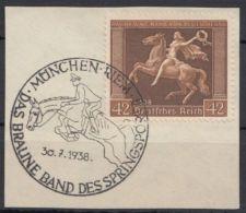 """Mi-Nr. 671y, """"Braunes Band"""", 1938, Sauberer Sst - Deutschland"""