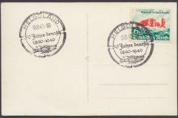 """FDC, Mi-Nr. 750, """"Helgoland"""", ESst Auf Pass. Foto-AK """"Übergabe Helgoland"""" - Briefe U. Dokumente"""