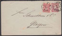 Mi-Nr. U 12 A, Bedarf Nach Glasgow, 1877 Mit Zfr. 33, Seltene MiF, Pfennige/ Pfennig, Oberklappe  Des Briefes Fehlt, O - Deutschland