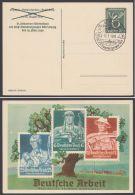 """Mi-Nr. PP 149 C 1/01, """"Deutsche Arbeit"""", Werbeschau Leipzig, 1940, Pass. Sst, O - Deutschland"""