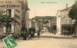CPA - FOUG (54) - Aspect Du Restaurant-Brasserie Du Coq Dans L'avenue De La Gare En 1914 - Bière Tourtel - Foug