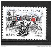 France  N°3781** Soldats Américains  (sous Faciale) - France