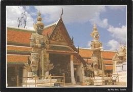 Asie - Thailande - Le Temple De Emerald Buddha - 1 Timbre Philatélique Au Verso, Voir Scan - Cpm - écrite - - Thailand