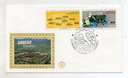 Italia - 1983 - Busta FDC Filagrano - Lavoro Italiano Nel Mondo - Fiat Mirafiori - Con Annullo Roma - (FDC11129) - Fabbriche E Imprese