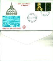 9425a)F.D.C   APERTURA DEL CONCLAVE25-8-78 - FDC