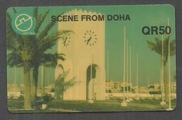 USED PHONECARD QATAR 50 QR - Qatar