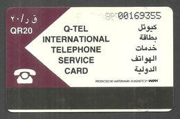 USED PHONECARD QATAR 20 QR - Qatar