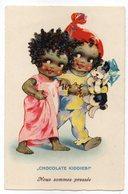 CPA   CHOCOLATE KIDDIES   SERIE DOLLY SERIE   NOUS SOMMES PRESSES       ENFANTS AVEC PETIT CHIEN - Cartes Humoristiques