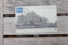 Carte Postale Affranchie Type Semeuse Oblitération Convoyeur St Germain à Paris 1920 - Railway Post