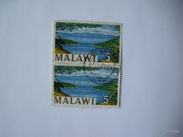 MALAWI 1964. Monkey Bay - Lake Nyasa. 5s. SG 225A (Type II). Block Of 2 Stamps. USED. - Malawi (1964-...)