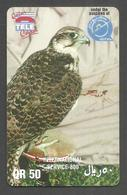 USED PHONECARD QATAR 50 QR BIRD - Qatar