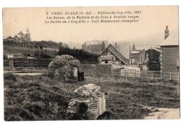 """CPA 76 - CRIEL-PLAGE (Seine Maritime) - 3. Ruines De La Batterie Et Du Four à Boulets Rouges. Jardin Du """"""""Coq D'Or"""""""" - Criel Sur Mer"""