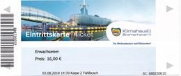 Bremerhaven Eintrittskarte 2018 Klimahaus - Tickets - Vouchers