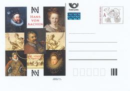 Tchéquie / Cartes Post. (Pre2015/07) Hans Von Aachen (1552 / 6-1615) Peintre; C: Autoportrait (avec Un Verre De Vin) - Vetri & Vetrate