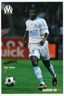 Fiche - Olympique De Marseille OM  - Taye TAÏWO - Saison 2008/09 - Sports