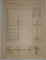 Plan De La Vanne De Chasse De La Galerie Duperré. Port De La Rochelle. 1887. - Travaux Publics