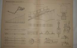 Plan Du Chemin De Fer Du Mont Pilate. 1887. - Travaux Publics