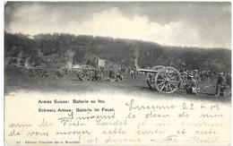 Armée Suisse Batterie  Au Feu  CPA 1903 - Non Classés