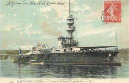 MARINE DE GUERRE  L'amiral Trébouard Garde Côtes   2scans - Guerra