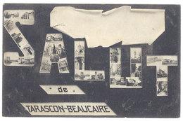 Cpa Salut De Tarascon - Beaucaire ( Timbres Multiples ) - Tarascon