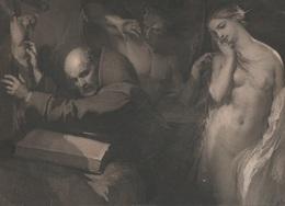 Gravure - 1848 - LOUIS GALLAIT - La Tentation De Saint Antoine - Artiste Belge  1810-1887. Brrrrrrr - Engravings