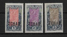 TCHAD -  YT N° 16/18 * - CHARNIERE CORRECTE - COTE = 58 EUR - Chad (1922-1936)