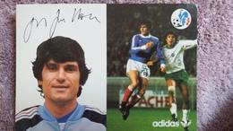 CPSM FOOTBALL JOUEUR JEAN MARC GUILLOU FF SELECTIONS 1978 ADIDAS SIGNATURE AUTOGRAPHE IMPRIME - Soccer