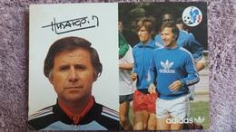 CPSM FOOTBALL JOUEUR ENTRAINEUR MICHEL HIDALGO  SELECTIONS 1978 ADIDAS SIGNATURE AUTOGRAPHE IMPRIME - Soccer