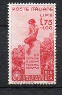 1936  Regno - Orazio N. 404 1,75+1 Carminio Senza Gomma (*) - 1900-44 Victor Emmanuel III.