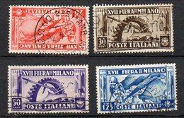 1936 Regno Fiera Milano N. 394 - 97 Timbrati  Used - 1900-44 Victor Emmanuel III.