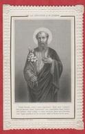 Image Pieuse - 19 Iem -  SANTINO - Holly Card - La Dévotion à St. Josef - Boumard Et Fils - Paris - - Devotion Images