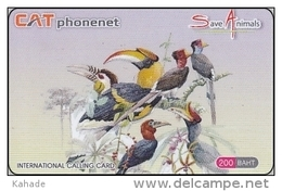 Thailand  Phonecard Cat Phonenet Nr. 5604  200 Baht  Bird Vogel Tucan And More - Thaïland