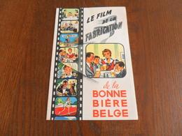 ANCIEN FOLDER PUBLIC. / FILM DE LA FABRIC. DE LA BONNE BIERE BELGE - Autres Collections