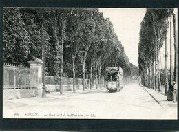 CPA - AMIENS - Le Boulevard Madeleine, Animé - Tramway - Amiens