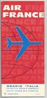 01 11 1963 Au 15 01 1964 AIR FRANCE  Lignes Avec L'ITALIE 8 Pages Format 21 X 23,5 Cm - Timetables