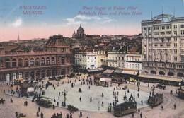 Bruxelles - Place Rogier Et Palace-Hôtel - Brüssel - Bahnhofs Platz Und Palace Hotel - Feldpostkarte - Marktpleinen, Pleinen