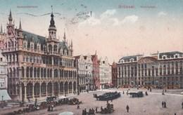 Brüssel - Marktplatz - Gemeindehaus - Feldpostkarte -1916 ! - Marktpleinen, Pleinen