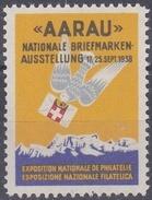 """""""Aarau"""" Nationale Briefmarken-Ausstellung 1938, Vignette - Erinnophilie"""