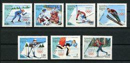 KAMPUCHEA 1988 N° 775/781 ** Neufs MNH Superbes C 6,75 € Sports JO D' Hiver Calgary Canada Ski Patinage Hockey - Kampuchea