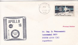 APOLLO 16 RECOVERY FORCE ATLANTIC US NAVY, NORFOLK VA 1972. USA- BLEUP - America Del Nord
