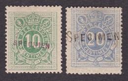 Taxe - TX1 Et 2 Neufs Charniérés + Surcharge Spécimen - Postage Due