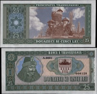 715-SLOVAKIA (produktion) ROMANIA-Transilvania 25 Lei DRACULA NOT LEGAL TENDER Private Issue 500 Pcs UNC 2016 - Romania