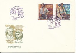 Portugal FDC 14-4-1980 EUROPA CEPT Complete Set Of 2 With Cachet - Europa-CEPT